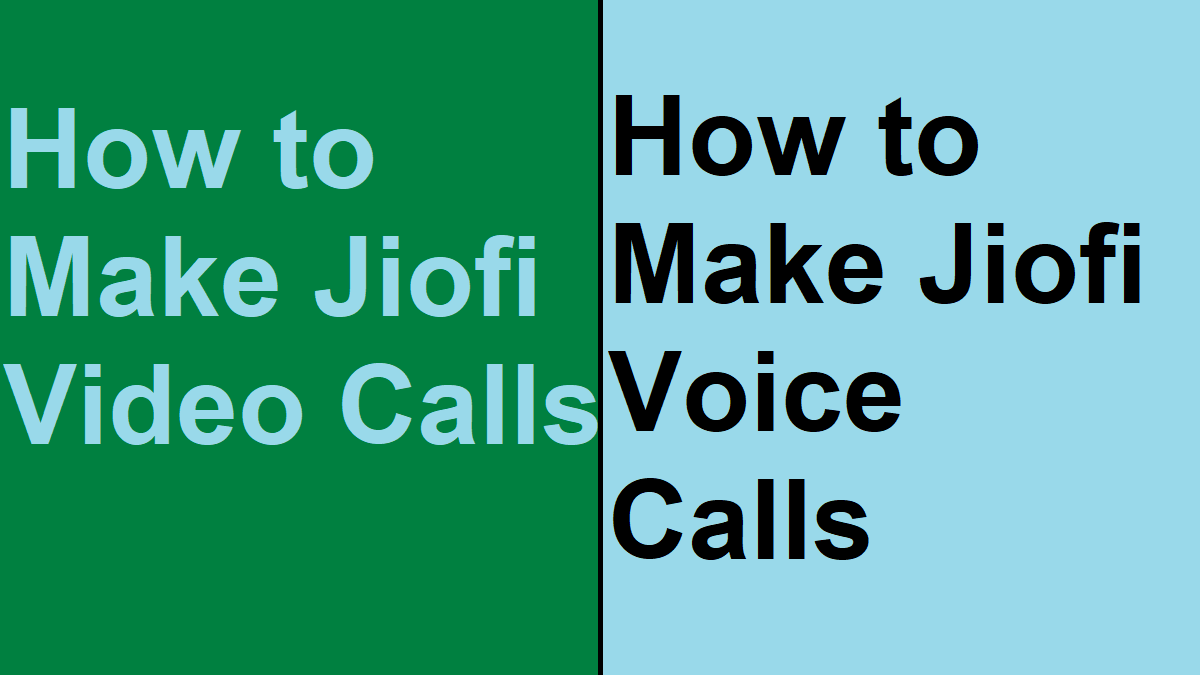Voice Calls using Jiofi
