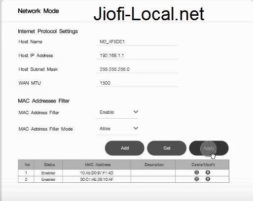JioFi Preferred devices