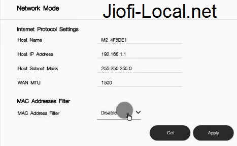 How to disable JioFi Internet to Other Connected Users by jiofi.local.html/index.htm