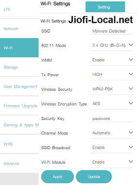 Jiofi SSID change in jiofi.local.html