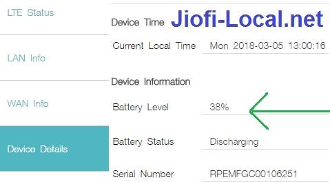 jiofi battery level status check at jiofi.local.html