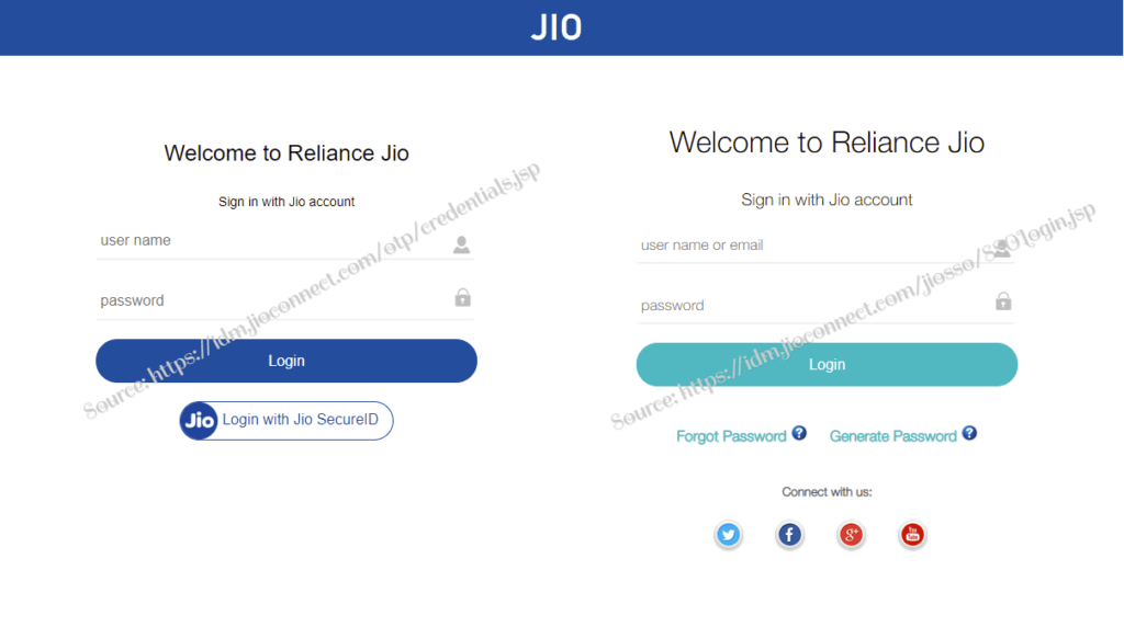 jio sso login