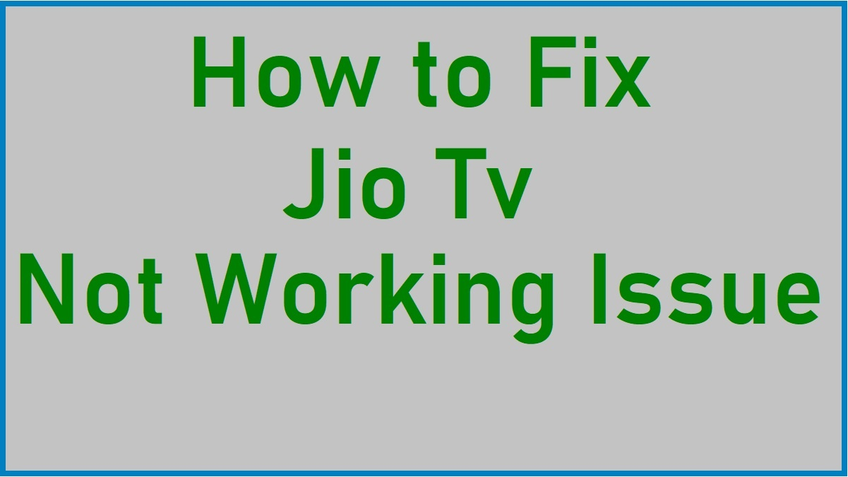 Fix jiotv not running issue
